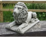 Hempel Lying Lion on Plinth Garden Statue