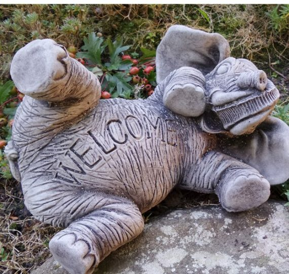 Lawrence Elephant Welcome Stone Garden Statue