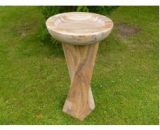 Twisted Column Birdbath