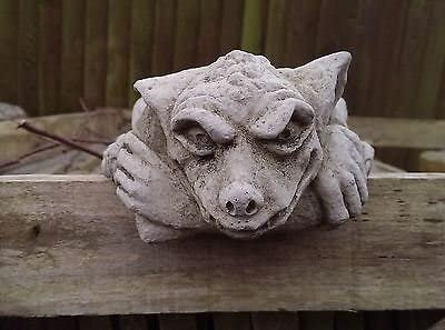 Peeping Gremlin Wall Garden Ornament. Reconstituted stone. Superb Details.