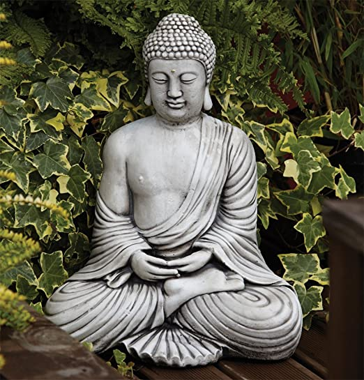 Statues & Sculptures Online Large Garden Ornaments - Serene Thai Stone Buddha Statue