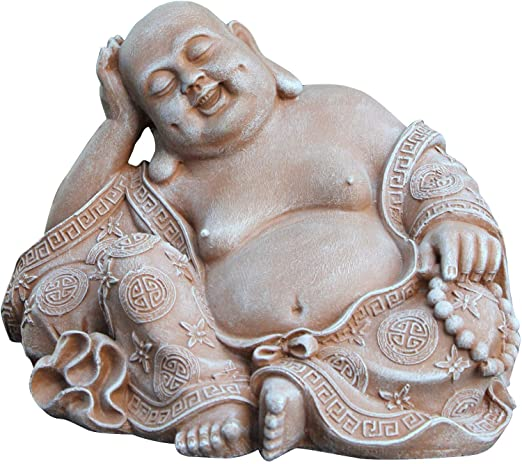 Tiefes Handicraft Buddha laughing ornament - Terracotta, Statue Stone Garten Indoor Outdoor Sculpture