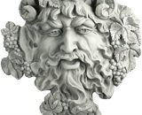Design Toscano Bacchus, God of Wine Greenman Wall Sculpture, Large, 48.5 cm, Polyresin, Antique Stone