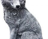 Stone and Style Garden ornament FOX, handmade, frost resistant made of stone