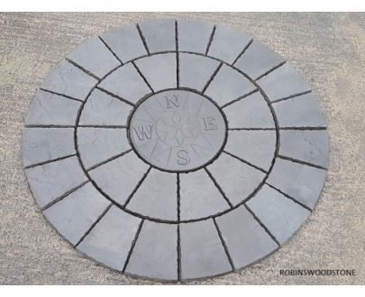 1.8m Charcoal Compass