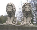 Pair of Sitting Lions