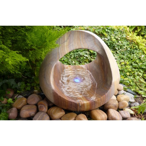 Sandstone Babbling Basket Water Feature